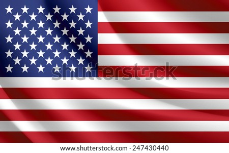 usa america flag waving