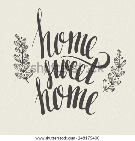 sweet home lettering