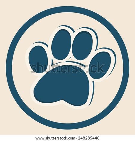 paw  animal paw flat