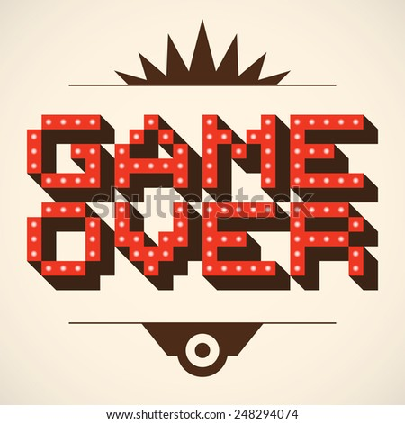 pixel art retro game over