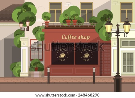 a small coffee shop on the