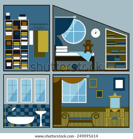 two story dollhouse with