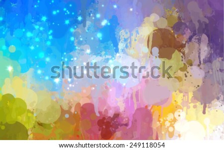 rainbow sky vector version