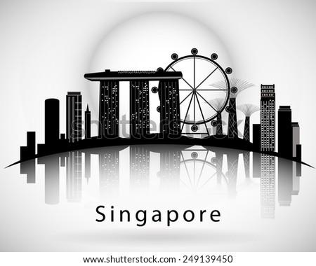 modern singapore city skyline