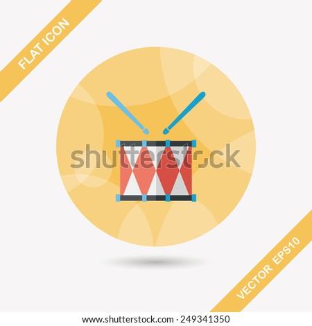 drum flat icon