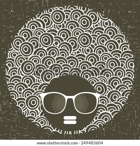 black head woman with strange