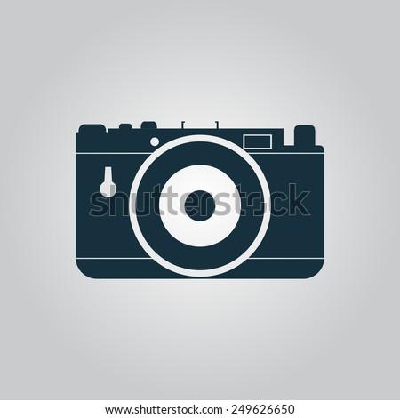 photo camera flat web icon