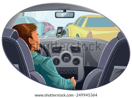 guy in traffic with navigator