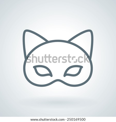 carnival mask with animal ears