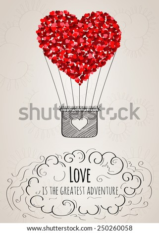 valentine card with a heart