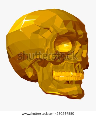skull vector with triangle