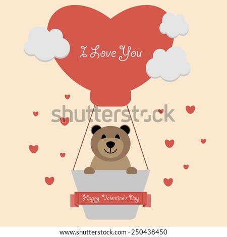 illustration with teddy bear in