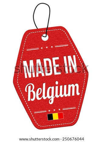made in belgium red leather