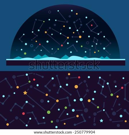 starry sky  space stars