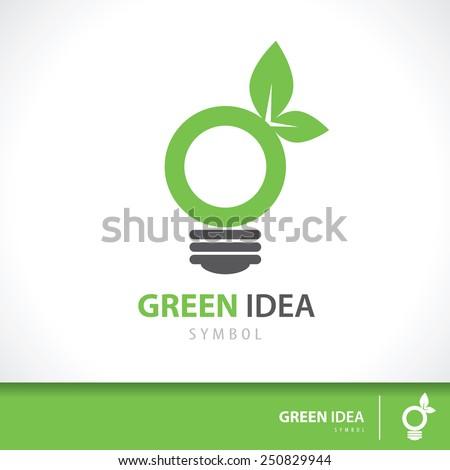 leaf and light bulb shape