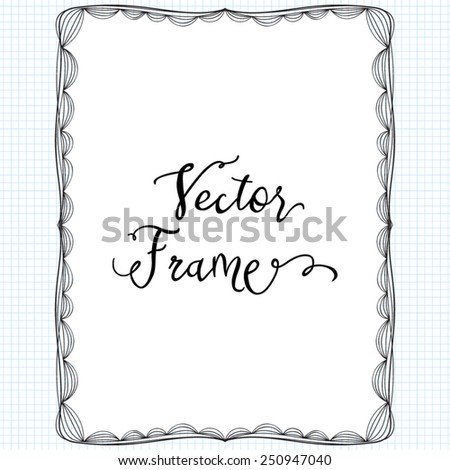 vector doodle frame hand drawn