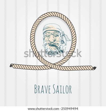 rope knot in shape of portrait