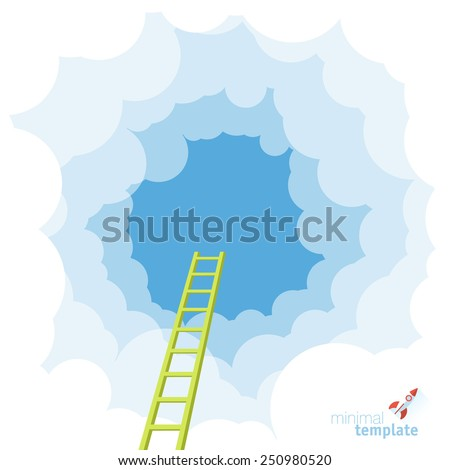 ladder to the sky vector