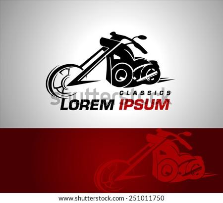 stylization vector motorcycle