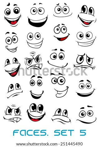 cartoon faces with different