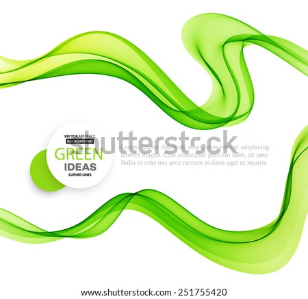 vector abstract green waves