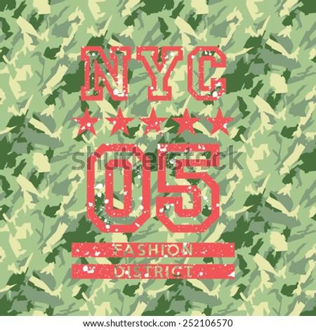 nyc fashion army style  artwork