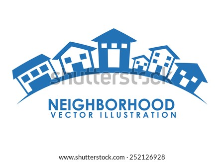 neighborhood design  vector