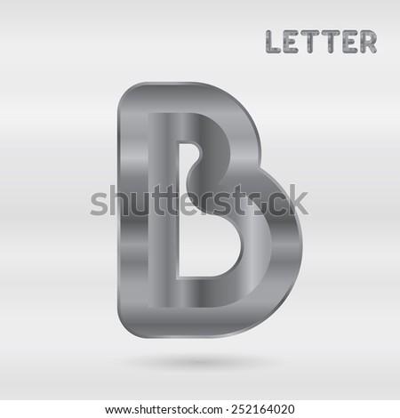 metallic alphabet set of