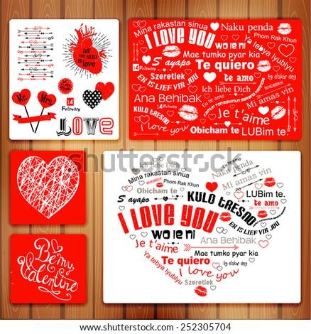 valentine letterpress card kulo