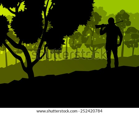 hunter silhouette background