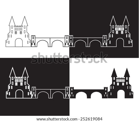 silhouette of the castle with a