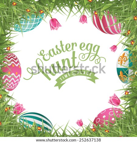 Colorful Easter Egg Hunt Background Free Vector Download 52014 For Commercial Use Format Ai Eps Cdr Svg Illustration Graphic Art