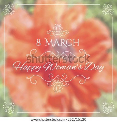 8 march happy woman's day