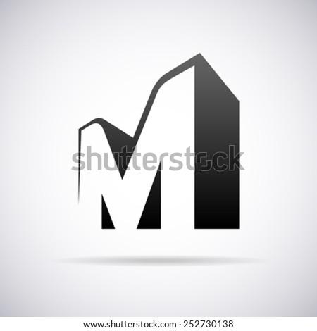 vector logo for letter m design