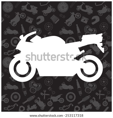 motorcycle  background pattern