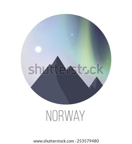 illustration of northern lights