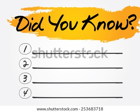 did you know blank list  vector