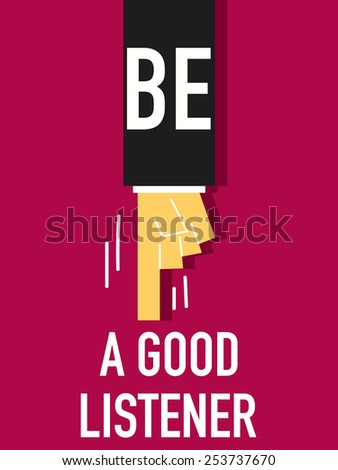 words be a good listener