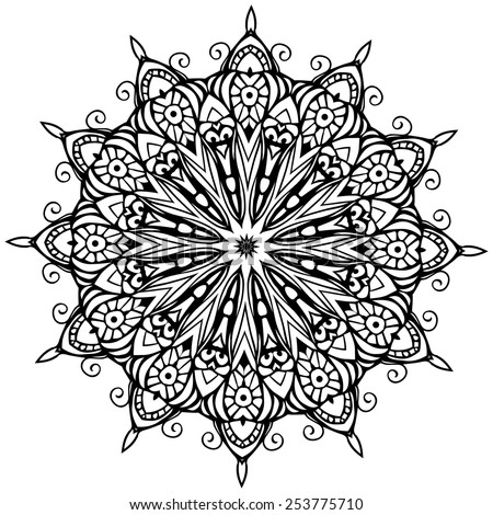 ornament black white card with