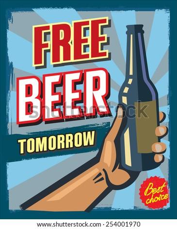 vintage style free beer