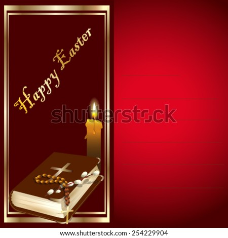 easter card with holy bible and