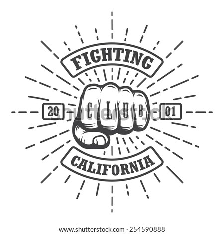 hipster emblem about fighting