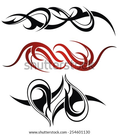 set of 3 different vector