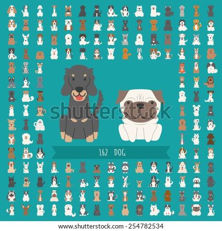 set of dog character   eps10