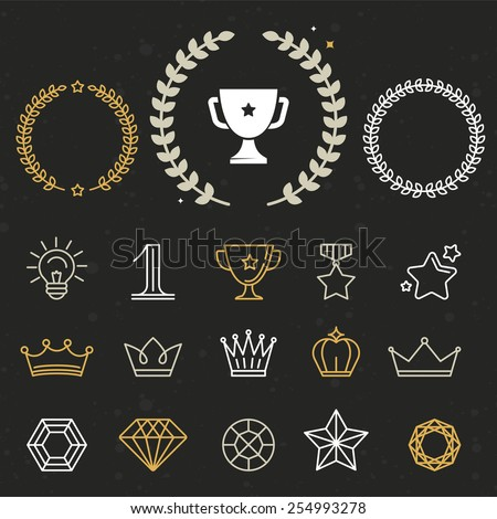 collection of winner awards and