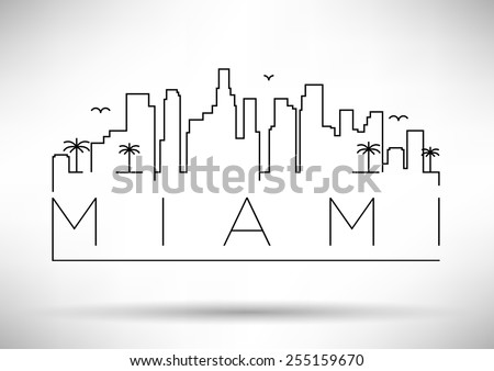 miami city line silhouette