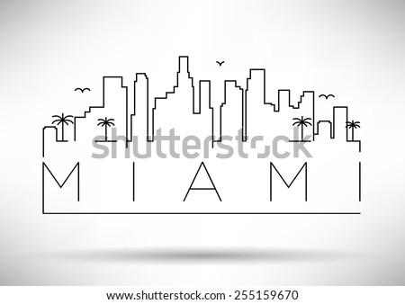 miami city line silhouette