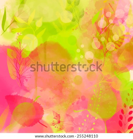 nature inspired pink and green