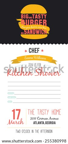 recipe card in hipster style