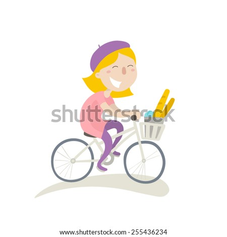 young girl on a bike with